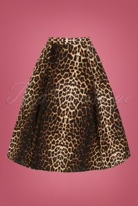 Bunny 50s Leopard Panthera Swing Skirt 25866 1W