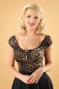 Bunny Uma Top in Leopard 25873 03W