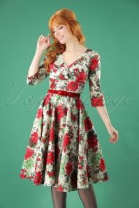 50s Jennie Swing Dress in Ivory