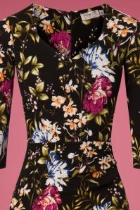 Vintage Chic Black Floral Pencil Dress 100 14 26457 20180801 0001V