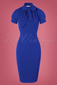 Vintage Chic 50s Bonnie Dress in Blue 26403 20161013 0004W