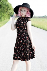 Retrolicious Natasha Bow Floral Dress 26090 20180803 0009
