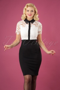 Paperdolls Black and White Lace Dress 100 50 25625 12072018 05W