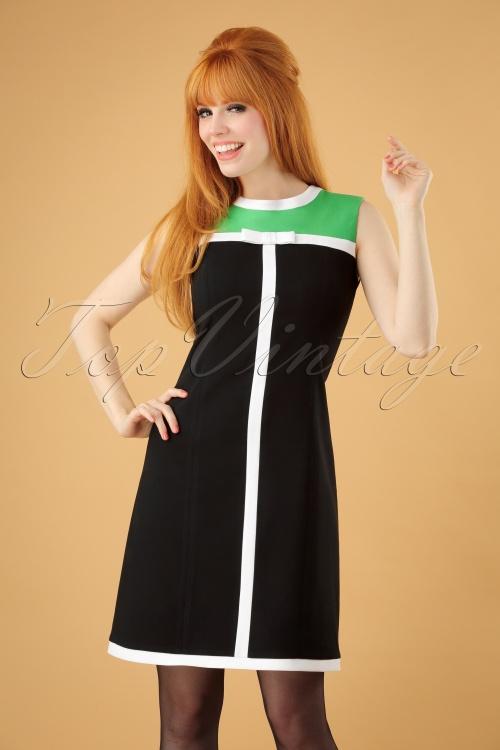 Marmelade Green and Black Dress 106 10 26285 20180717 0007w