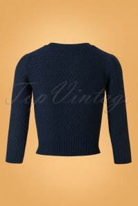 Mak Sweater 50s Jennie Blue Cardigan 140 40 26695 20180806 0005W