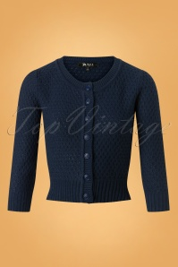 Mak Sweater 50s Jennie Blue Cardigan 140 40 26695 20180806 0003W