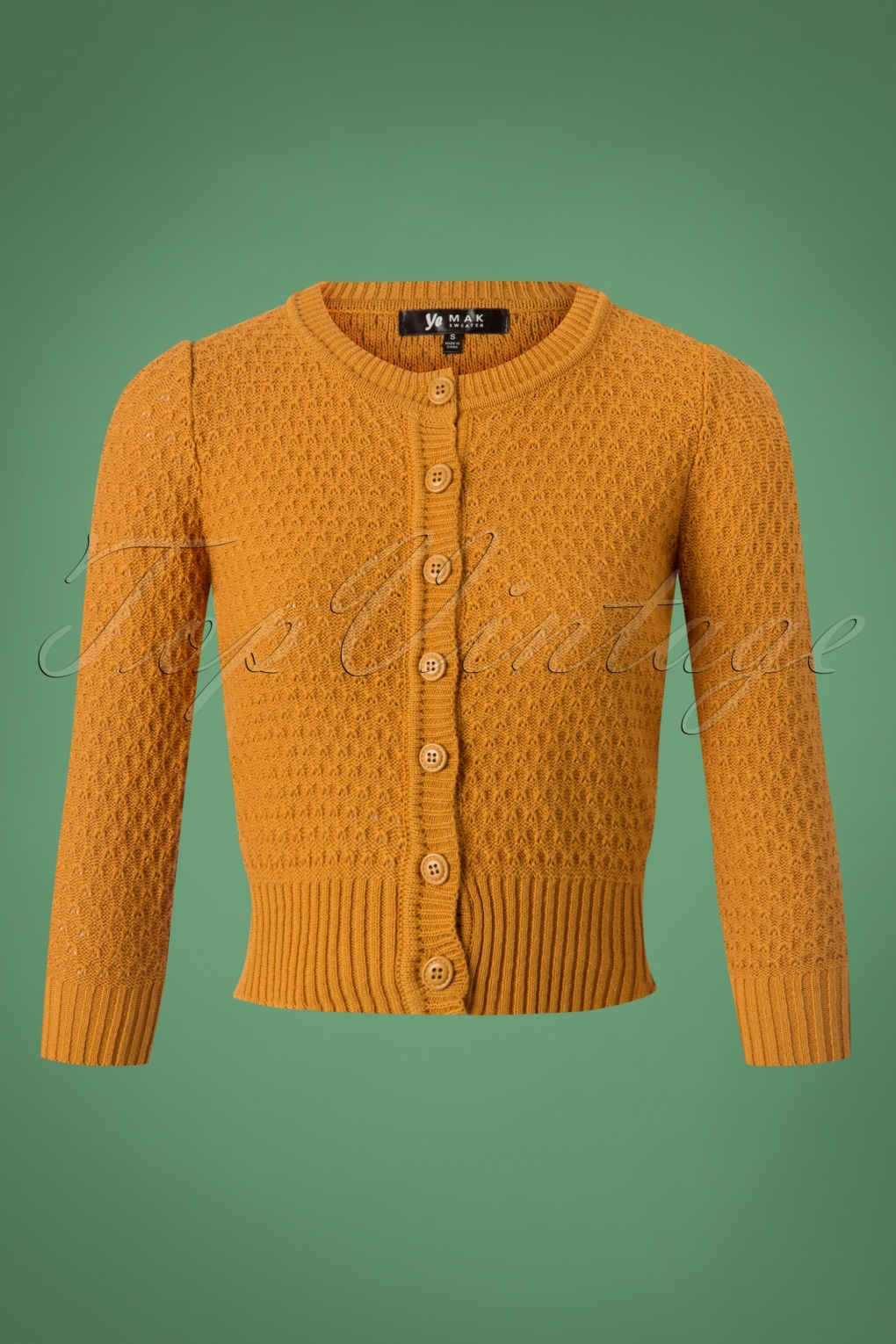 Vintage Sweaters: Cable Knit, Fair Isle Cardigans & Sweaters 50s Jennie Cardigan in Bronze £31.34 AT vintagedancer.com