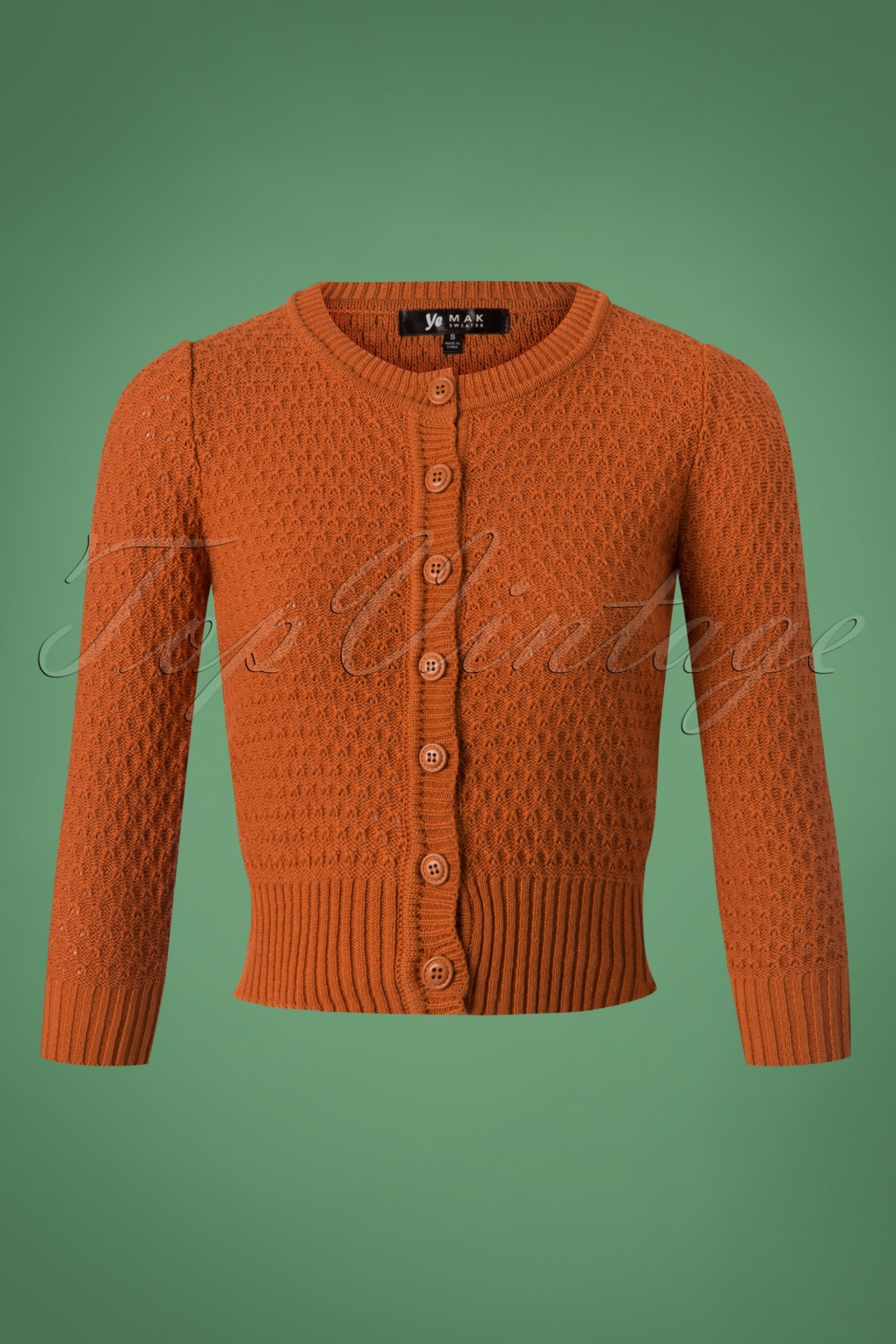 Jennie Cardigan Années 50 en Orange