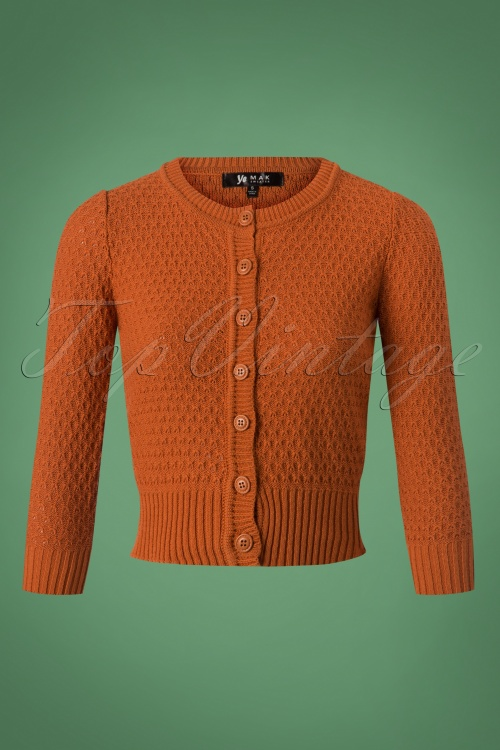 Mak Sweater 50s Jennie Bronze Cardigan 140 80 26691 20180806 0002W