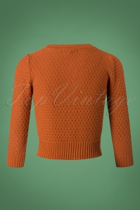 Mak Sweater 50s Jennie Dusty Orange Cardigan 140 80 26692 20180806 0005W