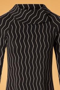 Froy and Dind Rachel Black Striped Dress 25419 20180803 0001V
