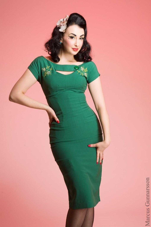 50s sierra green keyhole pencil dress. Black Bedroom Furniture Sets. Home Design Ideas