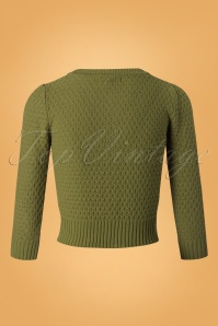 Mak Sweater 50s Jennie Olive Green Cardigan 140 80 26693 20180806 0005W
