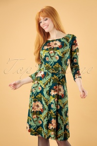 60s Betty Baroque Dress in Orient Blue
