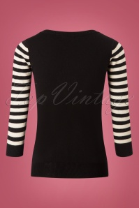 Mak Sweater Cat Sweater in Black and White 113 10 26688 20180806 0007W