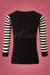 Mak Sweater Cat Sweater in Black and White 113 10 26688 20180806 0007W