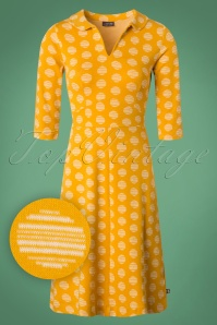 Froy and Dind 70s Milou Dress in Yellow 25418 20180803 0002W1