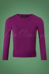 50s Debbie Sweater in Purple