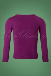 Mak Sweater 50s Debbie Purple Sweater 113 60 26686 20180806 0005W