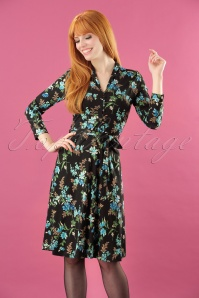 70s Emmy Rossville Dress in Black
