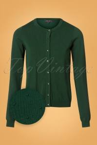 King Louie 50s Droplet Cardigan in Peacock Green