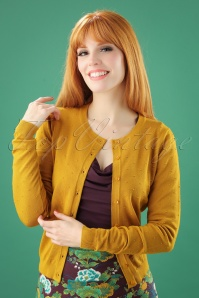 50s Droplet Cardigan in Yellow Glow