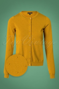 King Louie Cardi Roundneck Droplet in Yellow 25296 20180724 0001wv