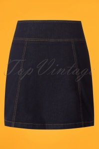 King Louie Lucy Skirt in Denim 123 30 25249 20180807 0006w