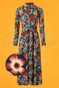 King Louie 70s Floral Midi Dress  102 39 25232 20180807 0001wv