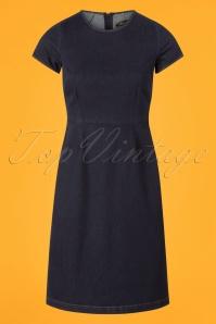King Louie Denim Inkblue Mod Dress 102 30 25248 20180807 0001w