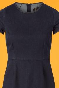 King Louie Denim Inkblue Mod Dress 102 30 25248 20180807 0001c