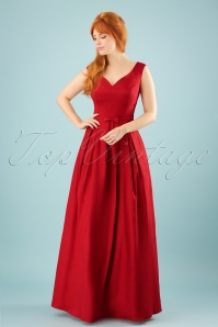 Collectif Clothing Miss Scarlet Maxi Dress in Red 22551 20171120 00011w