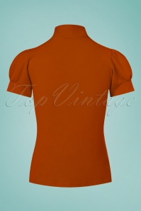 Vintage Chic 50s Bonnie T Strap Top in Cinnamon 110 21 26710 20170719 0005w