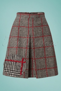 60s Lamont Check Skirt in Black and Red
