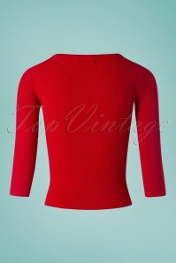 Louche Lylou Neck Red Jumper 113 20 25937 20180808 0005w