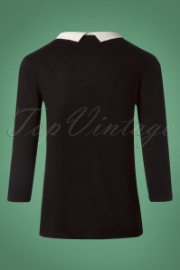 Louche Jett Cat Black Jumper 113 10 25936 20180808 0004w