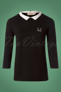 Louche Jett Cat Black Jumper 113 10 25936 20180808 0001w