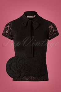 Vintage Chic Rose Lace Bow Top 110 10 26353 20180808 0003wv