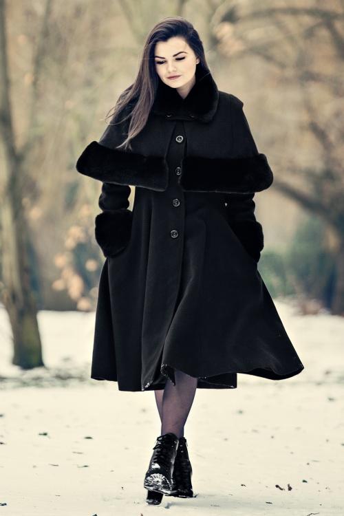Bunny Capulet Coat in Black 25895 20180705 0011c