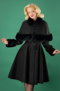 Bunny Capulet Coat in Black 25895 20180705 0009w
