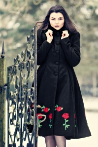 40s Rosa Rossa Coat in Black