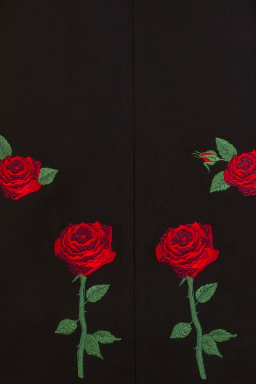 40s Rosa Rossa Coat In Black