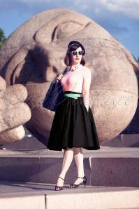 50s Paula Swing Skirt in Black