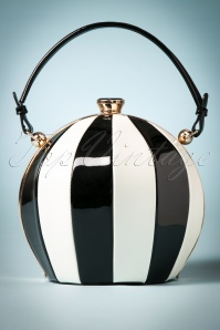 50s Vintage Fantasy Balloon Bag in Black and White