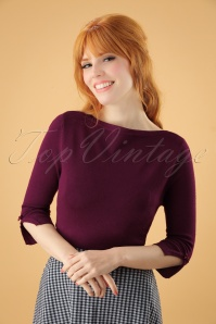 50s Addicted Sweater in Aubergine