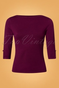 Banned Addicted Sweater in Aubergine 26247 20180717 0001W