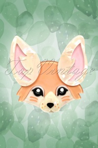 TopVintage exclusive ~ 60s Finnicky Fennec Fox Brooch