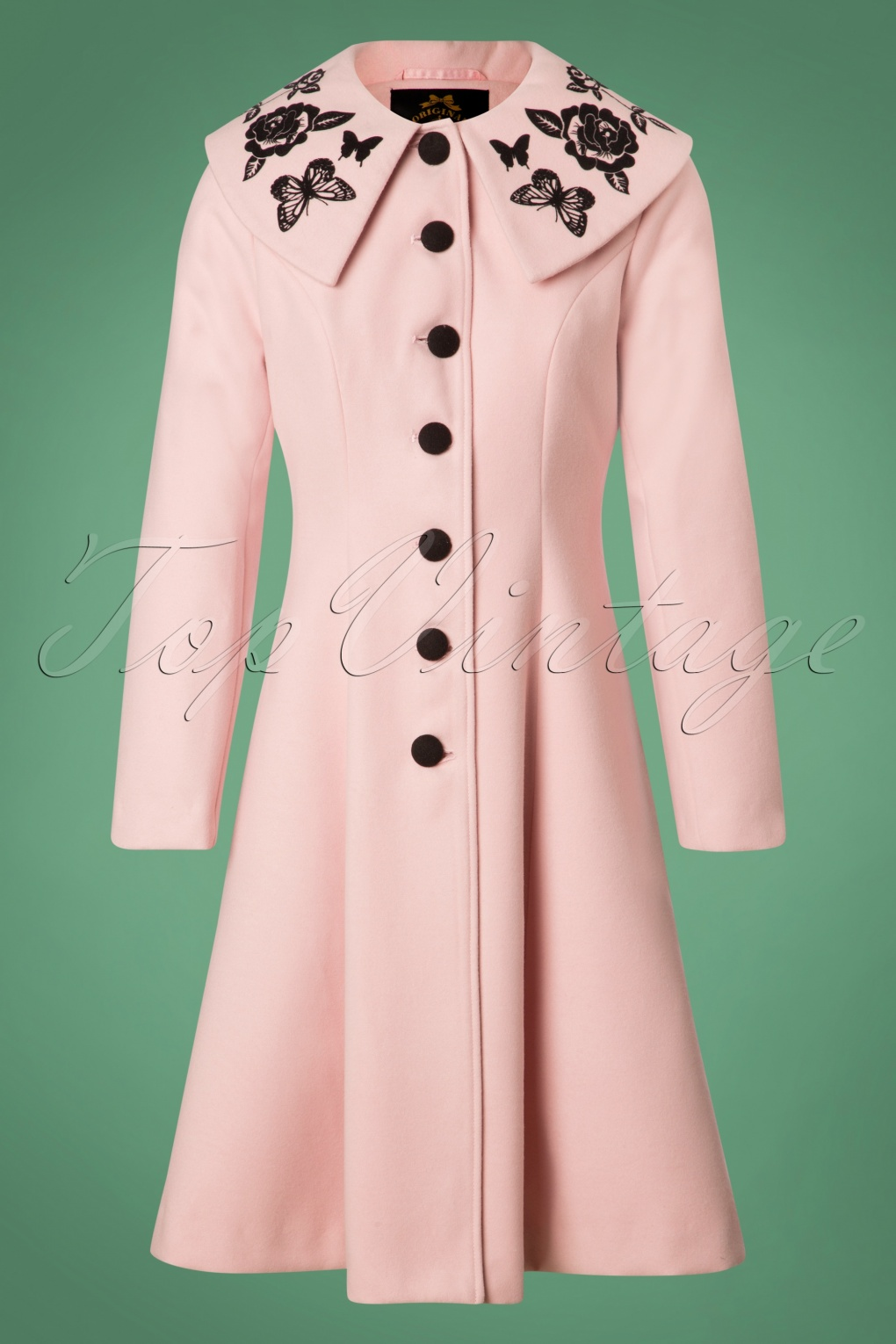 1950s Jackets, Coats, Bolero | Swing, Pin Up, Rockabilly 50s Hermione Coat in Pink £118.27 AT vintagedancer.com