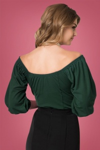 Micheline Pitt for Unique Vintage  Green Hissy Fit Top 112 40 26748 20180813 2
