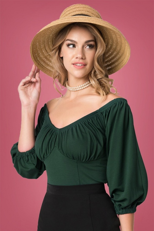 Micheline Pitt for Unique Vintage  Green Hissy Fit Top 112 40 26748 20180813 1